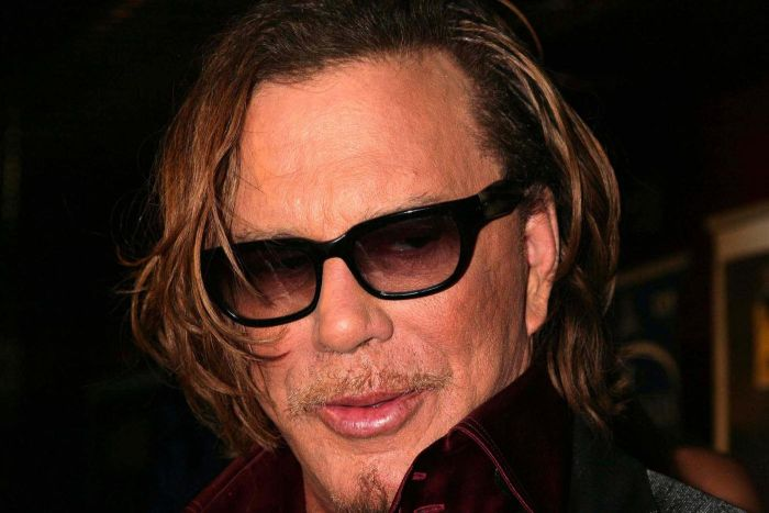 Mickey rourke face mickey rourke is a man of many face damn cool