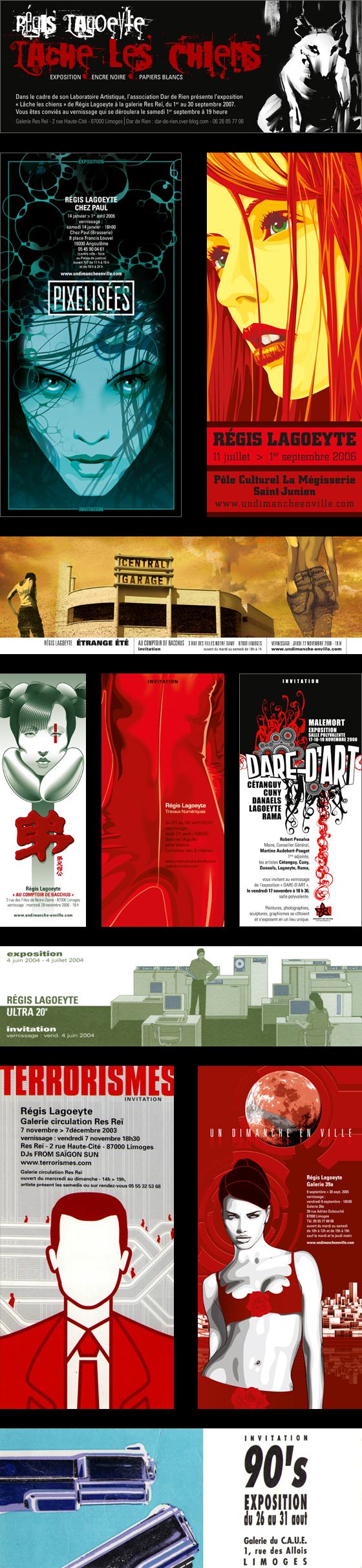 Carton d'expositions by Régis Lagoeyte