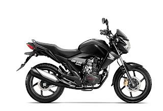 modelo de color negro de CB 150 Invicta de Honda