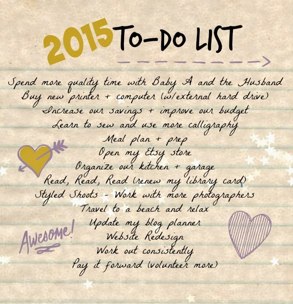 list of 2015 goals