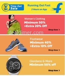 Flipkart App Time Out Sale for 2 Hours