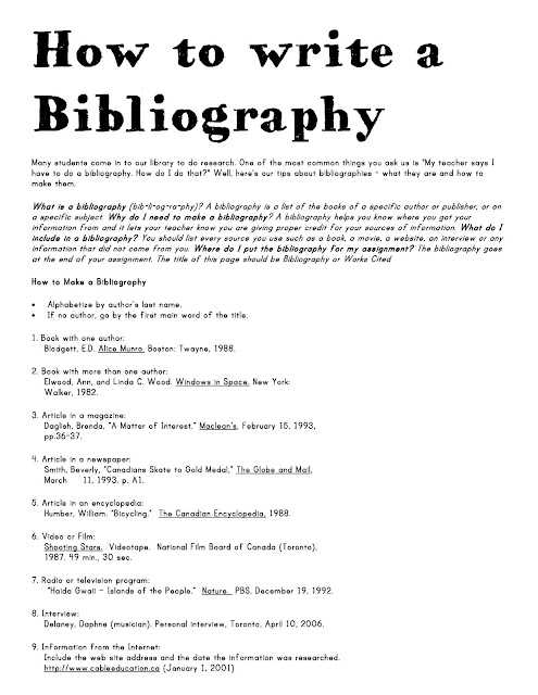 How to write a bibliography nz