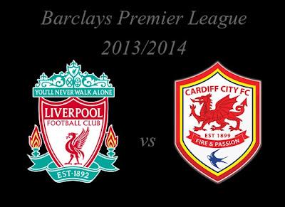 Liverpool vs Cardiff City Barlays Premier League 2013