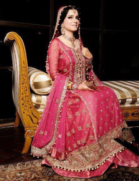 Fashion world latest fashion pakistani bridal dresses for Online pakistani wedding dresses