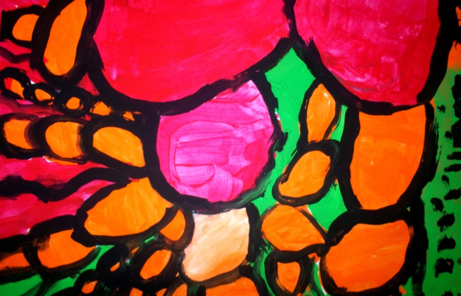 Fallish Abstract Expressionism 2nd Grade