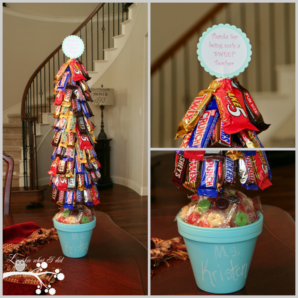 Lookie what i did a candy topiary