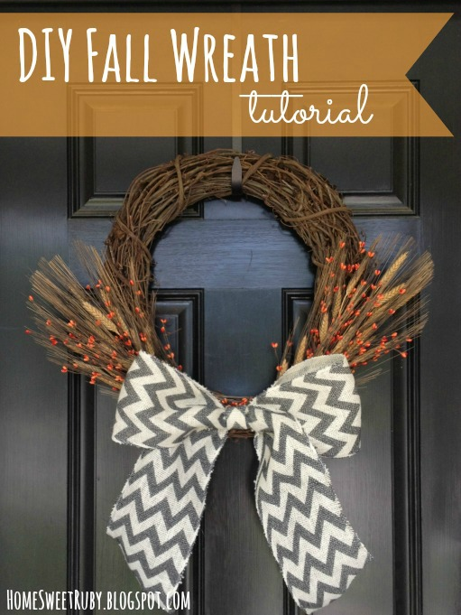 Diy Fall Wreath Home Sweet Ruby
