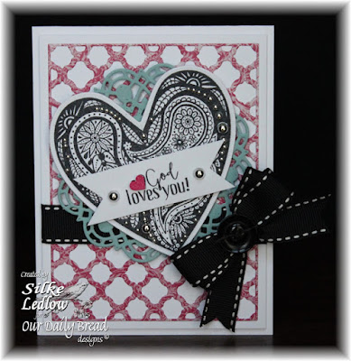 Our Daily Bread Designs Stamp sets: Boho Love, Our Daily Bread Paper Collections: Beautiful Boho, Our Daily Bread Designs Custom Dies: Ornate Hearts, Doily, Boho Background