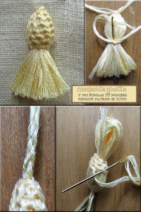 Patrones crochet - Como hacer borlas de hilo ...