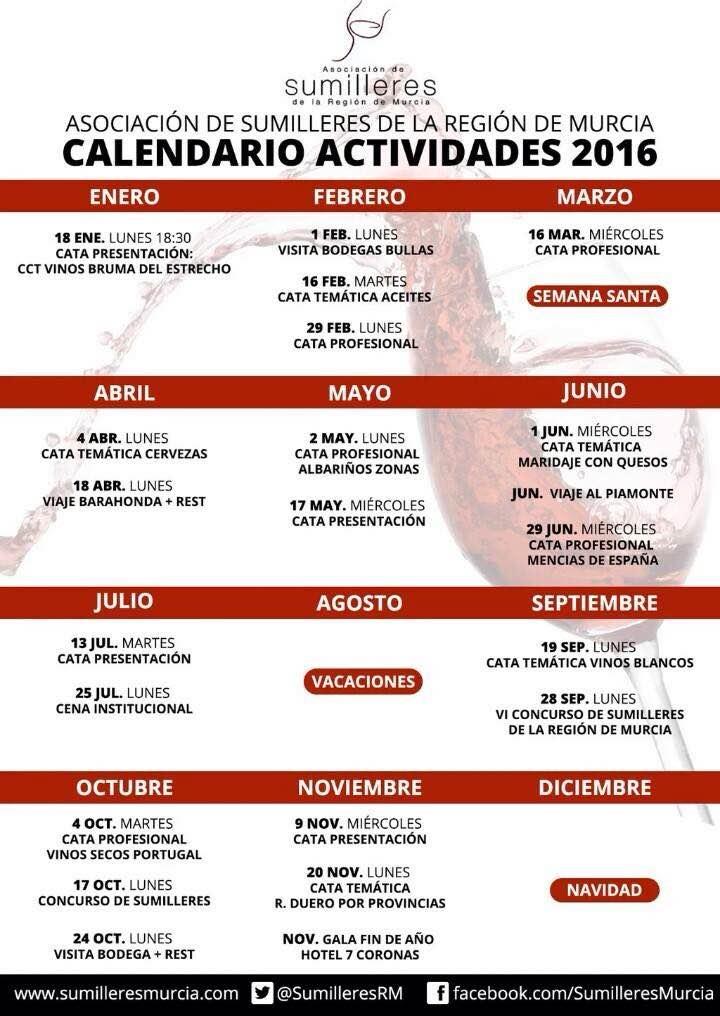 Calendario de actividades de la ASRM