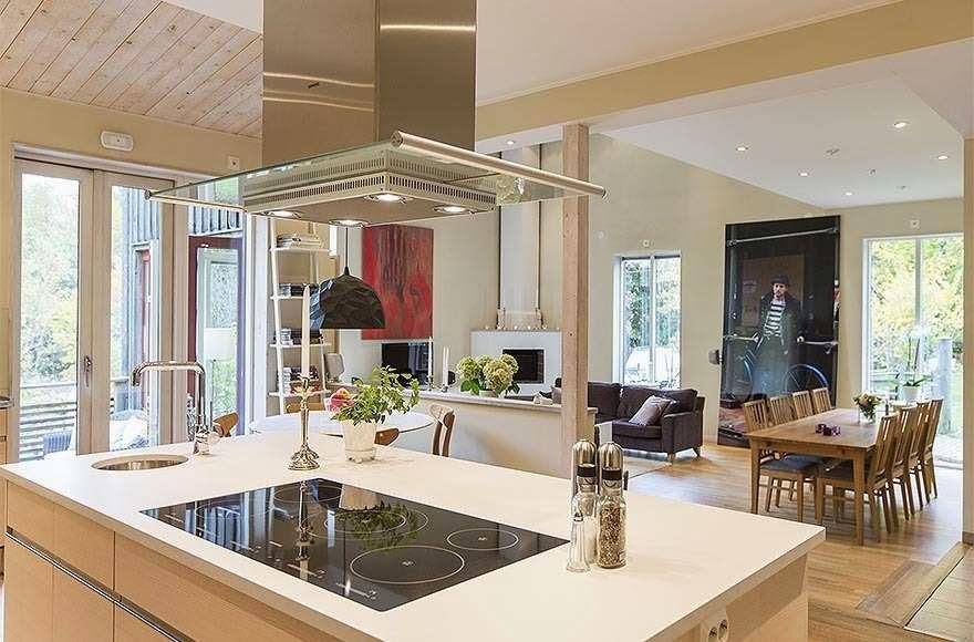Espacios Abiertos Y Continuos Decorados Con Gran Coherencia Y El Mismo  Color Que Los Unifica El Resultado Es Una Casa Moderna Clida Y Acogedora.
