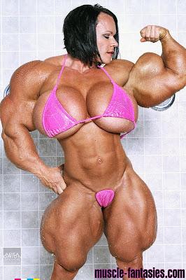 Aleesha Young muscle morph