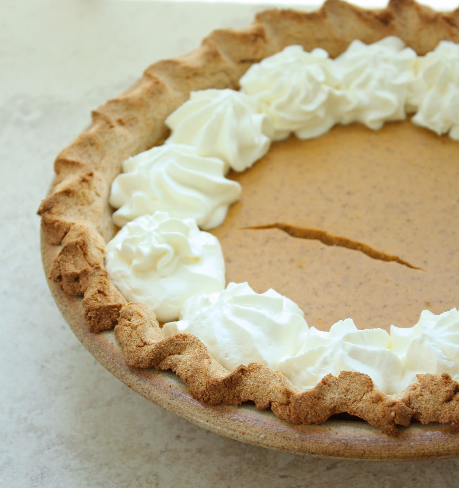 Low Carb & Gluten Free Pumpkin Cheesecake Pie | I Breathe I'm Hungry