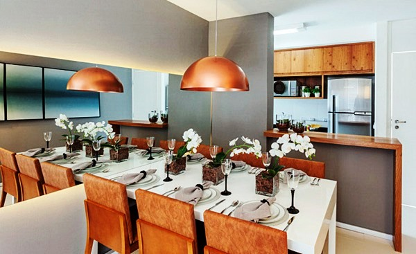 Espelho Para Sala De Jantar Grande ~ 12 salas de jantar decoradas com espelhos + dicas  Decor Alternativa
