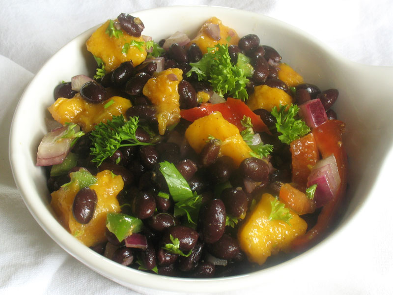 Black Bean Salad with Fresh Mango and a Chaat Masala Dressing | Lisa's ...
