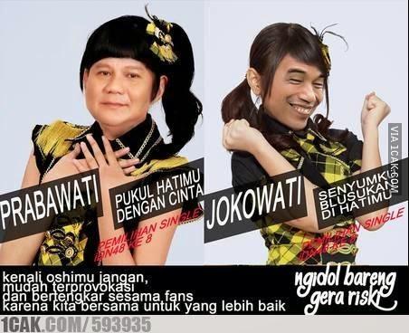 Meme Lucu Capres Jokowi vs Prabowo