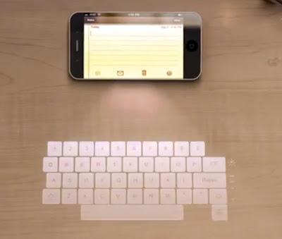 teclado holográfico - iPhone 5