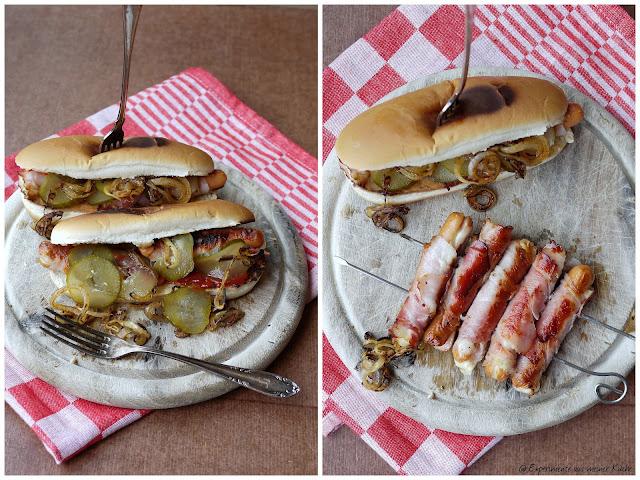 Experimente aus meiner Küche: Gegrillte Hot Dogs mit Käsewürstchen