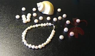 Pulsera plata de ley y perla cultivada