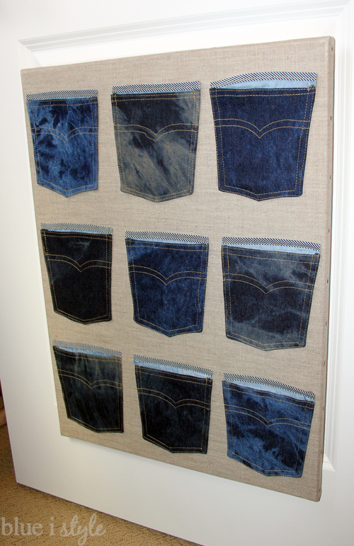DIY Denim Pocket Organizer from Michaels Denim Pocket Garland