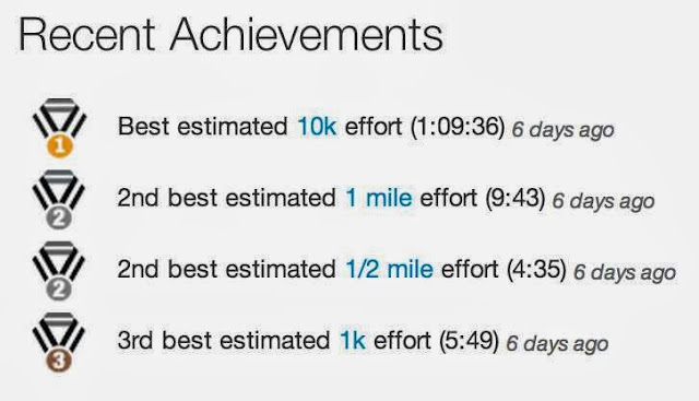 strava recent achievements