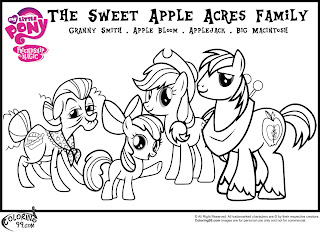 the sweet apple acres family coloring pages