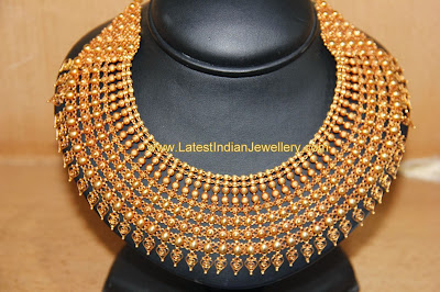 kerala heavy bridal gold necklace