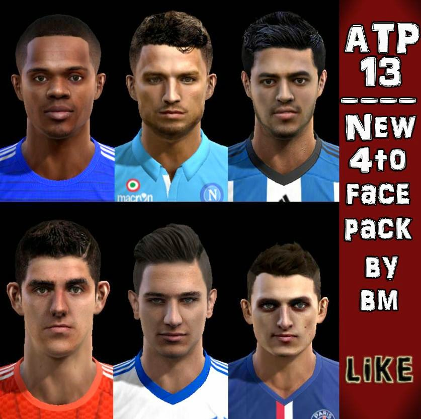 Ultigamerz Pes 2010 Pes 2011 Face: PES-MODIF: PES 2013 New 4to Facepack 2014 By ATP13 / B. Molina