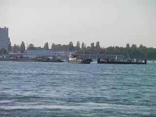 landing stage of hayling ferry at eastney side