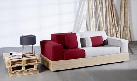 Eternamente mia diy sofa con palets - Hacer sofa de palets ...