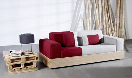 Eternamente mia diy sofa con palets for Cojines sofa palets