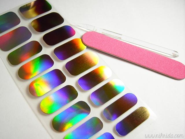 Konad Nail Dressor Stickers in Hologram Metal Gold