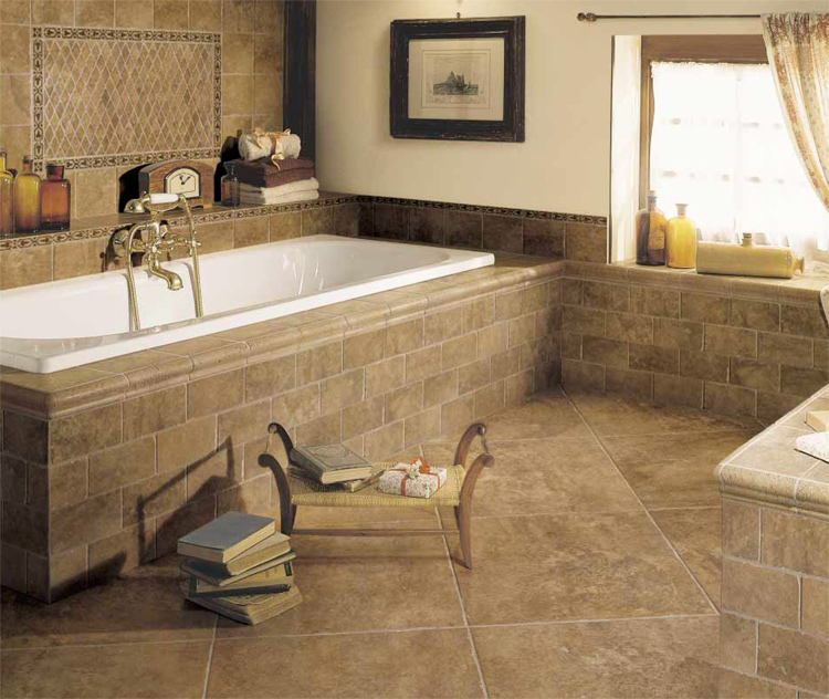 Bathroom Tiles Floor Ideas : Luxury tiles bathroom design ideas amazing home