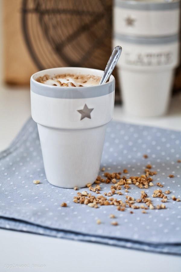 Cappuccino Nußnougat Krokant köstlich