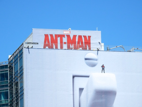 Giant Ant-Man light switch billboard