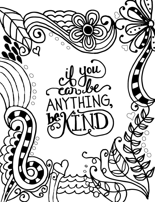 be kind coloring pages - photo#1