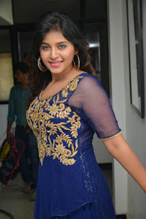 Anjali Latest Pictures in Blue Long Dress at s Dictator Movie Launch Event ~ Celebs Next