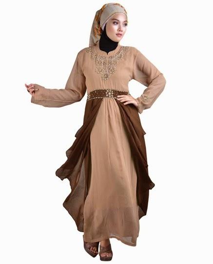 Inilah 10 Contoh Model Baju Muslim Brukat Terbaru 2018