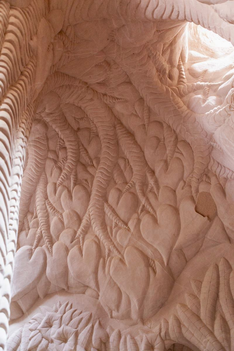 Man Carves Cave With Dog : Duke world new mexico artist ra paulette carves caves