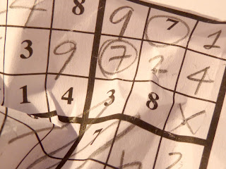 Crumpled sudoku grid
