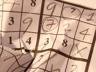 Crumpled sudoku grid