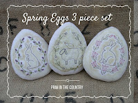 Spring Eggs Pattern 3 piece set $4.00