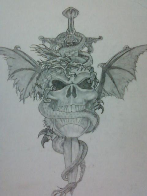 Sword and Dragon Tattoo