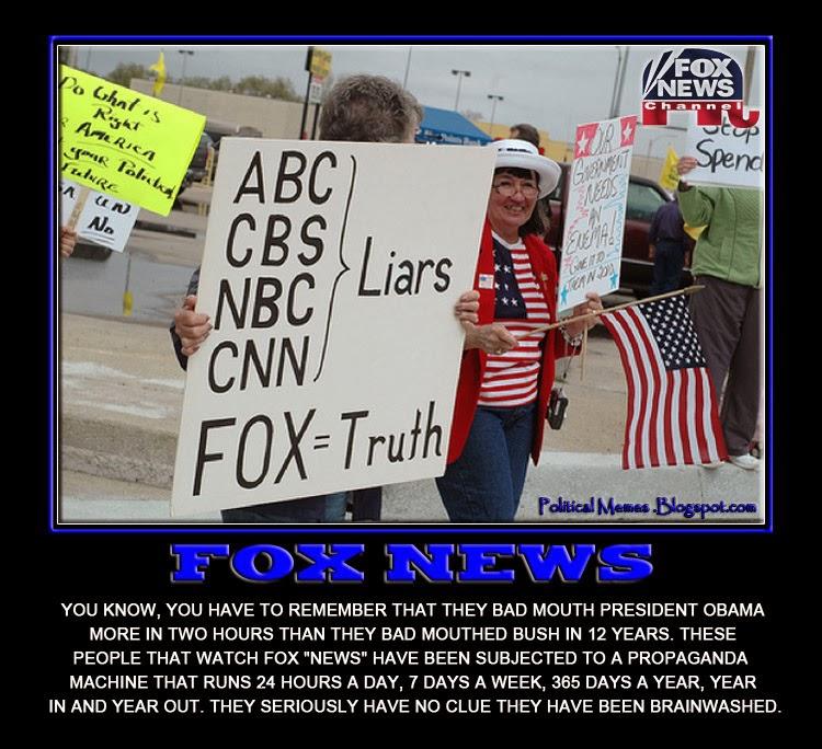 Political Memes: Fox News: Brainwashing