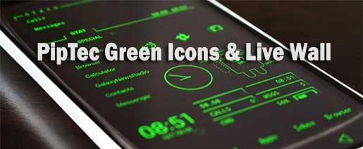 PipTec Green Icons & Live Wall Apk v1.2.5
