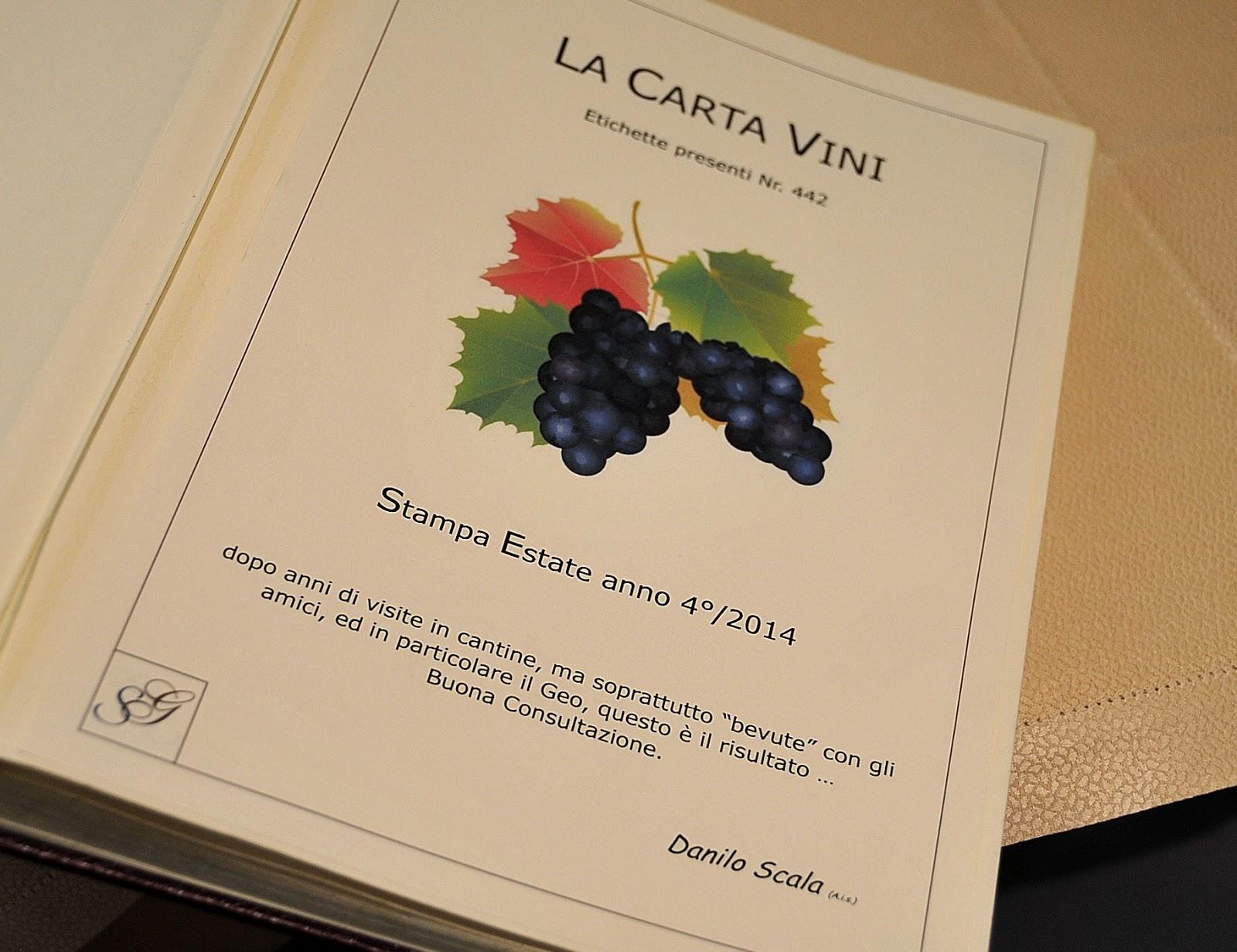 La Credenza Carta Dei Vini : La duja ristorante e vineria ciriè