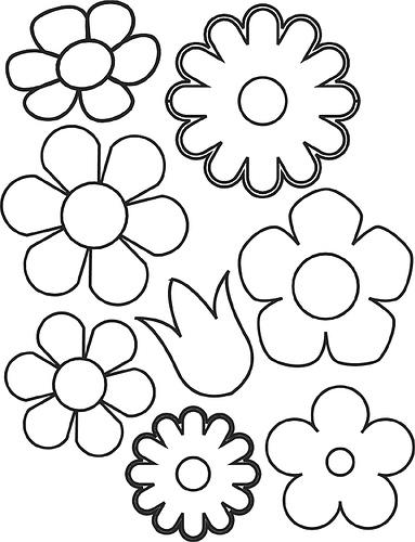 Moldes para flores de fommi