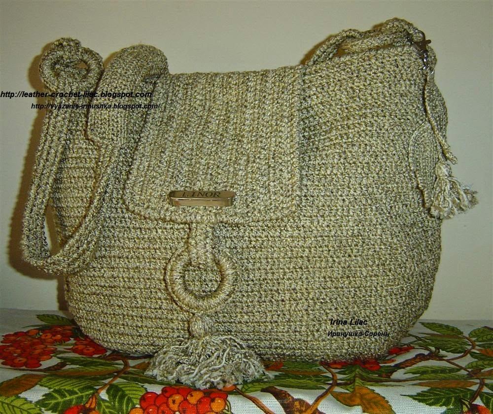 Crochet Knitting Bag : Crochet and knitting from Irina Lilac: Crochet bag