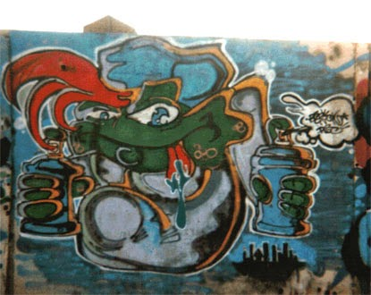 Graffitis vieja escuela Barcelona