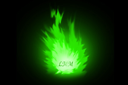 Cette image, tres simple, represente une flamme verte aux differentes nuances de cette couleur, lumineuse au centre de la flamme et allant en s'obscurcissant a mesure qu'on s'approche des ses contours vacillant. Au centre de cette flamme on peut lire les celebres initiales LMM qui font aussi office de logo du Marginal Magnifique. Cette flamme verte est d'autant plus remarquable qu'elle se détache sur un fond totalement noir. Cette image aussi belle que simple illustre on ne peut plus justement le poeme intitule La Flamme de l'immense poete qu'est LeMarginal Magnifique dans lequel celui-ci, avec tout le talent qu'on lui connait, defend ses convictions personnelles envers la societe alienante environnante. Il met en avant la force de ses principes qui lui permettent de resister envers et contre tous puisqu'il sait qu'il detient la verite. La famme du titre et de l'image symbolise cette force interieure qui brule en lui. Encore un extraordinaire poeme, au sens riche, qui fera date, du Marginal Magnifique !